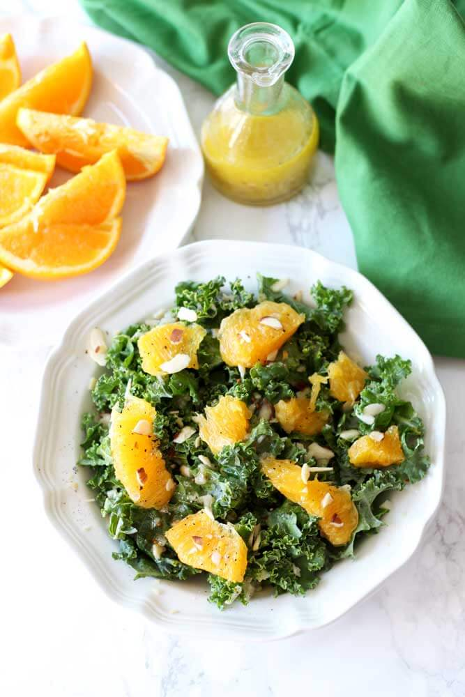 Navel Orange and Kale Salad with Citrus Vinaigrette