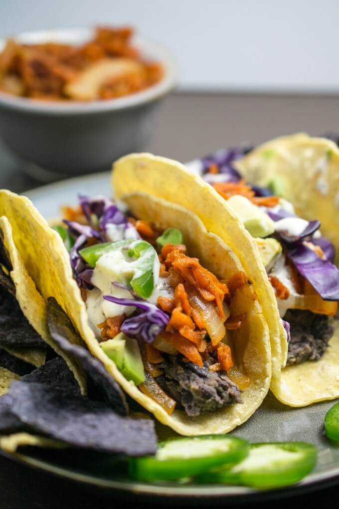 BBQ Pulled Carrot Tacos