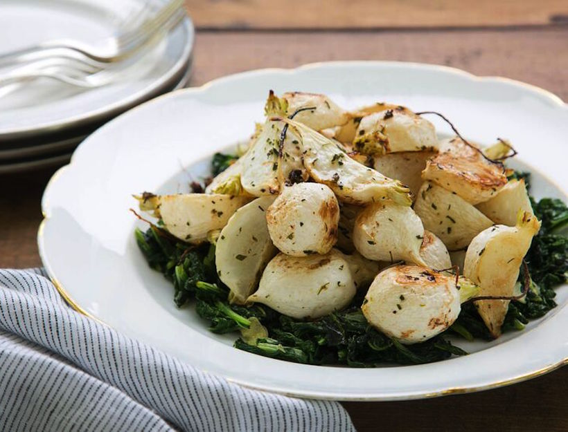 Brown Butter Roasted Turnips