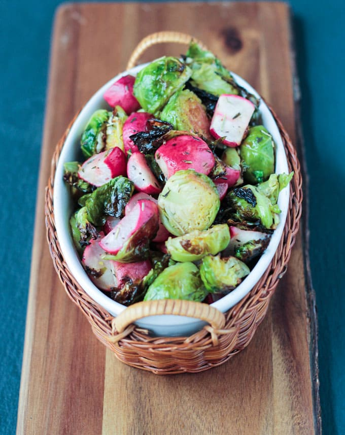 Roasted Radish & Brussels Sprouts Salad