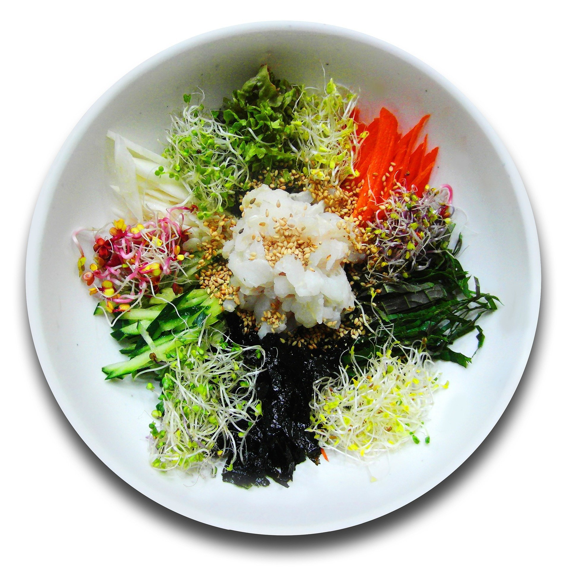 Vegan Bibimbap with Carrots and Spinach