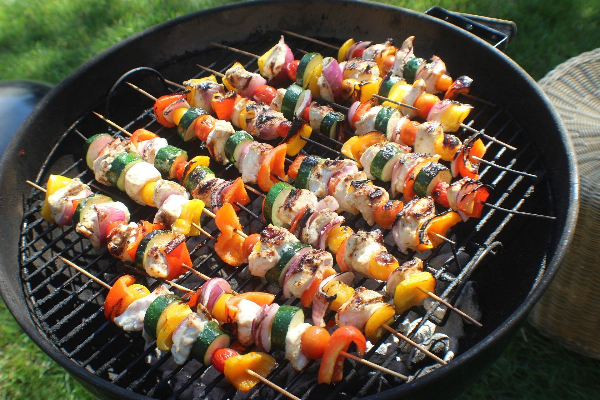 Lemon-Glazed Swordfish or Tuna Skewers