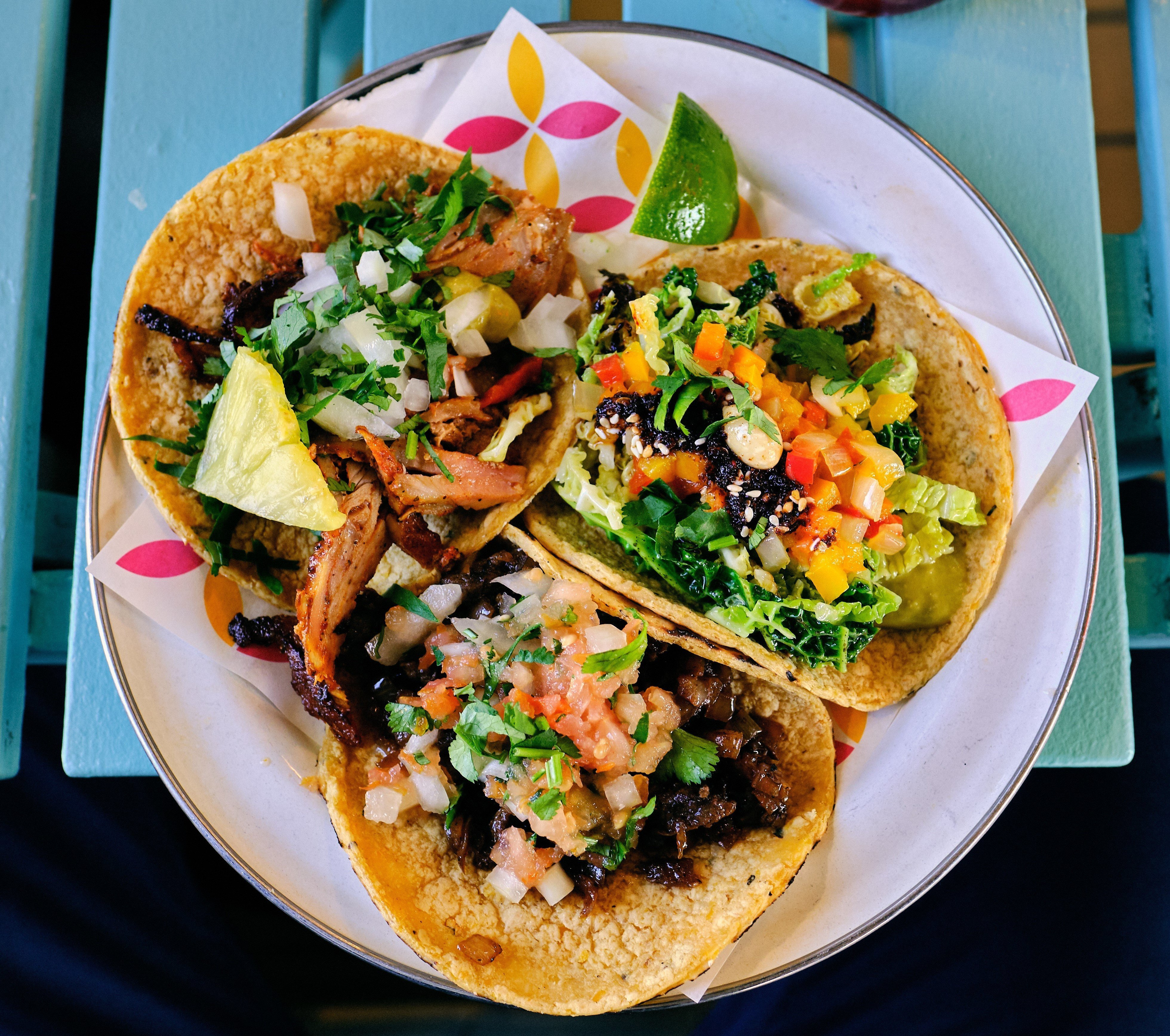 Grilled Zucchini Chickpea Tacos